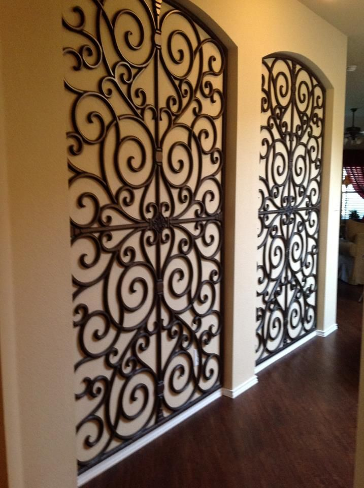 Faux Iron: Budget Blinds 940-595-2546. These faux iron pieces look awesome in my cousins house!