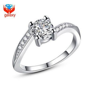 Модный ювелирные изделия свадьба кольца кубический цирконий инкрустированные платиновое покрытие 6 мм 1.75 СТ CZ алмаз кольцо для женщины ZR054