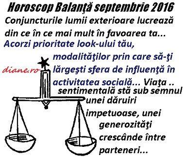 diane.ro: Horoscop Balanţă septembrie 2016