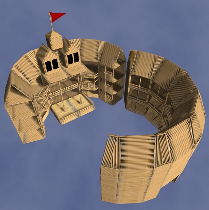 how to build a globe theater model