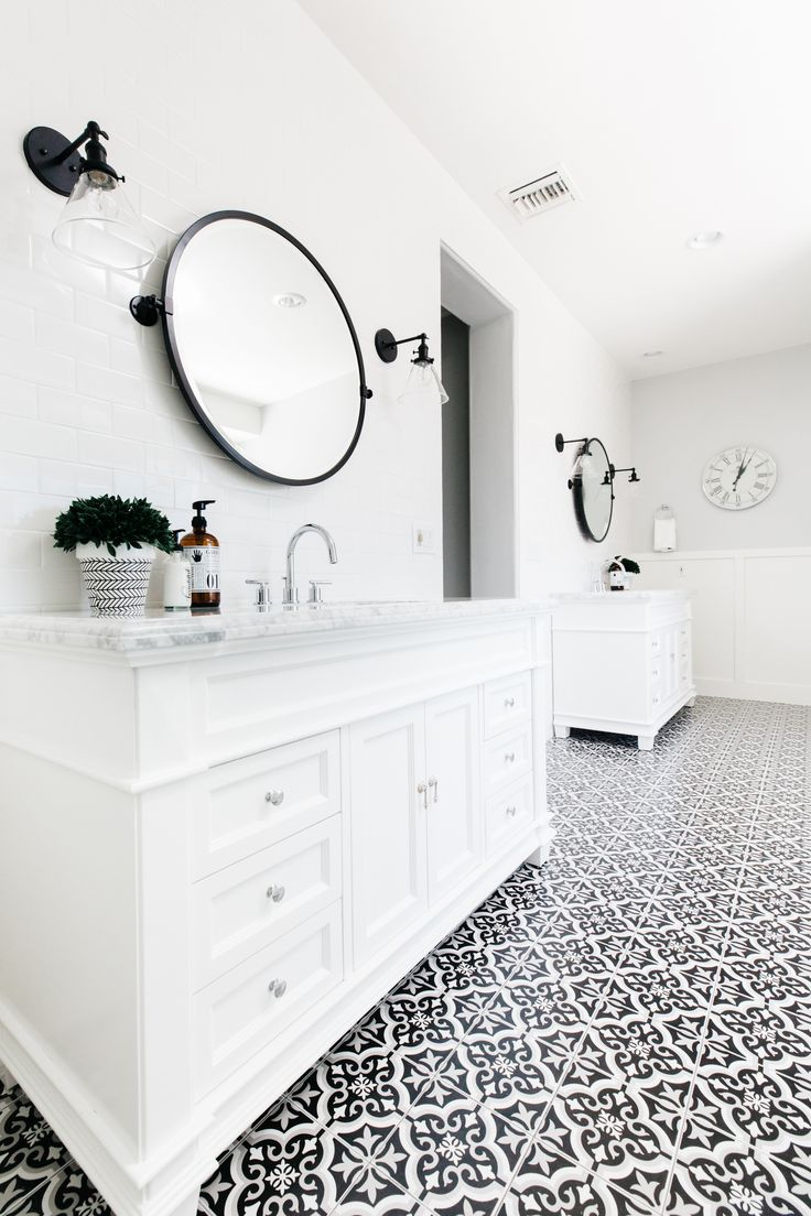 Best 25+ Black white bathrooms ideas on Pinterest | Bathrooms, Hexagon tile  bathroom and Bathroom layout