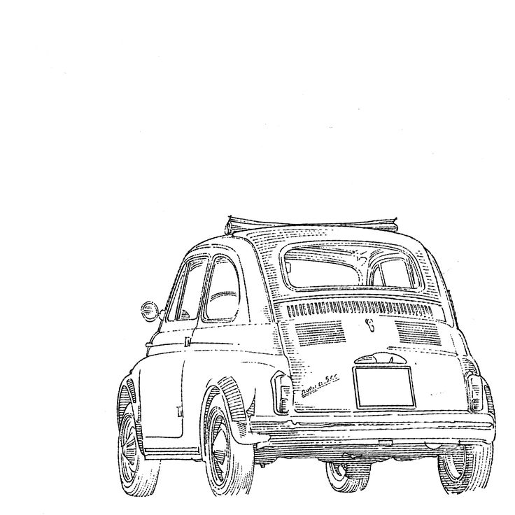 FIAT 500 NUOVA  #line #art #character #design #model #illustration #best #concept #animation #drawing #archive #library #pen #paper #reference #oldschool #draw #artist #creative #conceptart #automotive #cars #classics #retro
