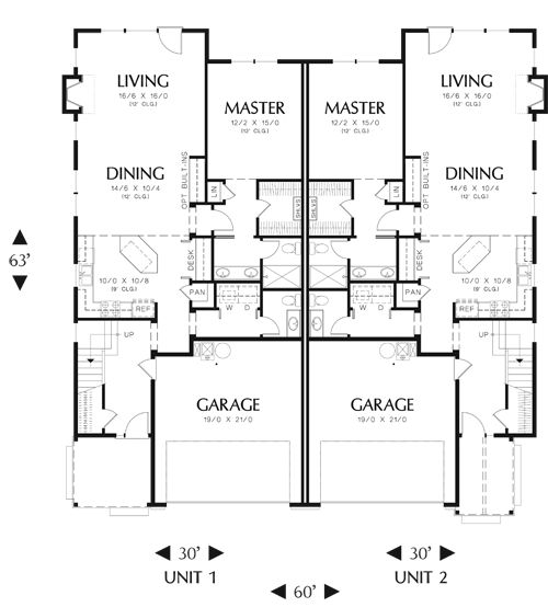 5 Ideas For A One Bedroom Apartment With Study Includes Floor Plans: Aurora House Plan 5896 - 3 Bedrooms And 2.5 Baths
