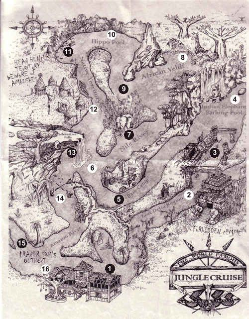 When you're getting off the Jungle Cruise, ask a cast member for a free map.   16 Awesome Hidden Gems You Must Experience At Disneyland