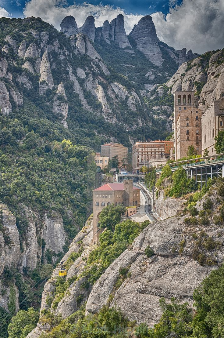 Montserrat mountain and monastery. Catalonia.