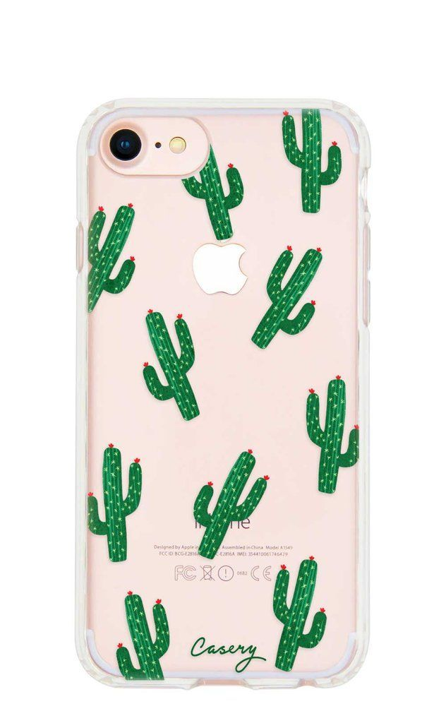 Cactus Clear Case For The Iphone 7 6s 6 The Casery Iphone Phone Cases Bff Phone Cases Cute Iphone 7 Cases