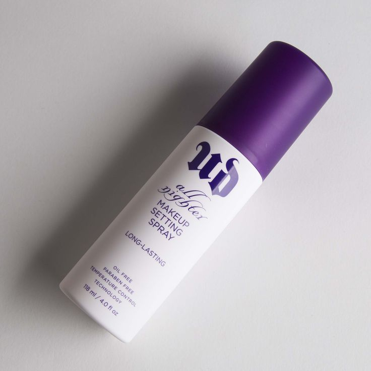 Urban Decay: All Nighter Long-Lasting Makeup Setting Spray. Fusing cutting-edge temperature control technology with long-wear functionality, this high-tech makeup setting spray keeps makeup looking fresh for up to sixteen hours.