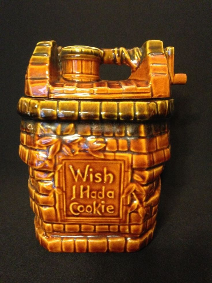 Vintage Mccoy Pottery Cookie Jar Quot Wish I Had A Cookie Quot Vintage Cookie Jars Pinterest Jars