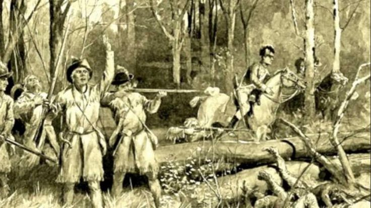 The Battle of Fallen Timbers, 20 August 1794.