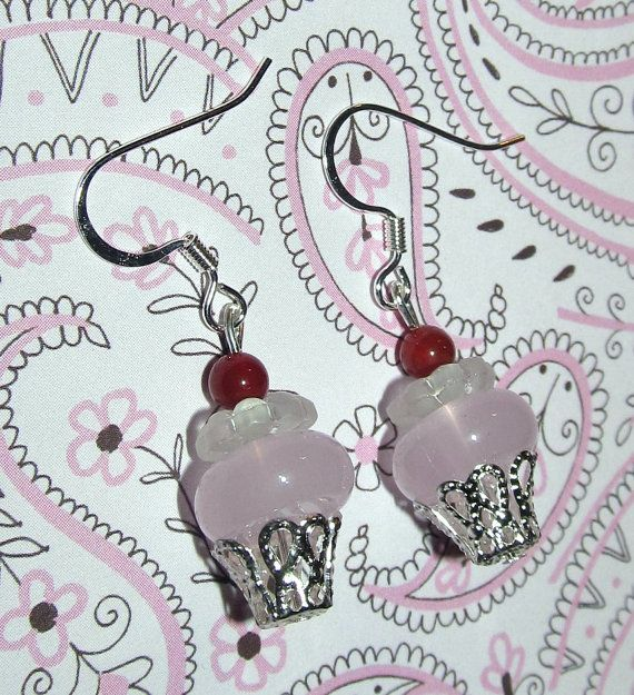 Beaded Cupcake Handmade Earrings