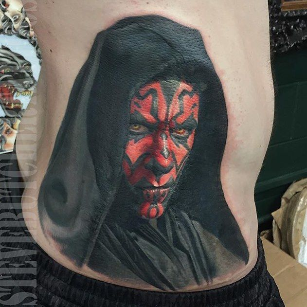 Darth maul from star wars tattoo may the force be with for Luke skywalker tattoo