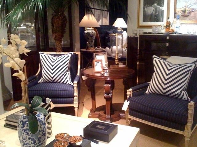 Great Pin Stripe Chairs   Nice Cushions   Ralph Lauren Home · White PillowsOutdoor  FabricStyle ...