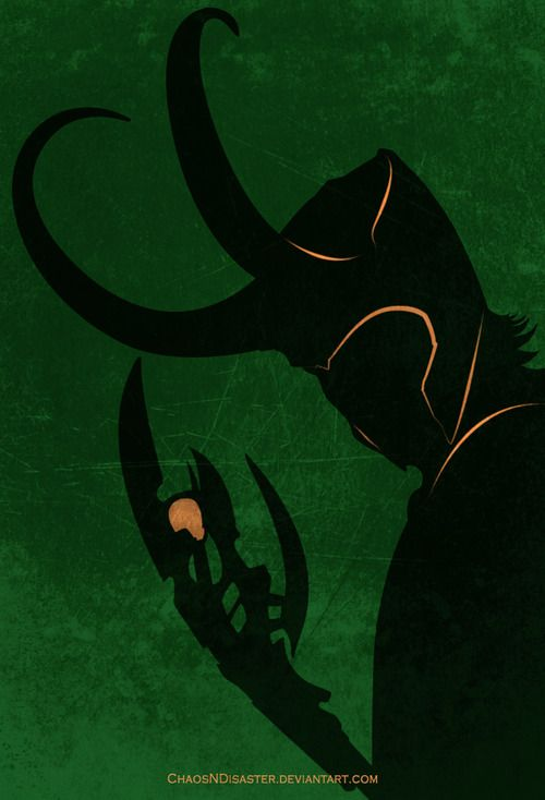Neat Loki fan art poster - The God of Mischief by ~ChaosNDisaster