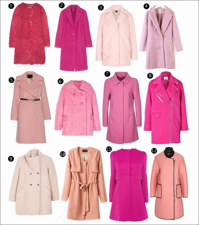 Sparkly Fashion: Rock the Trend: Pink Coats