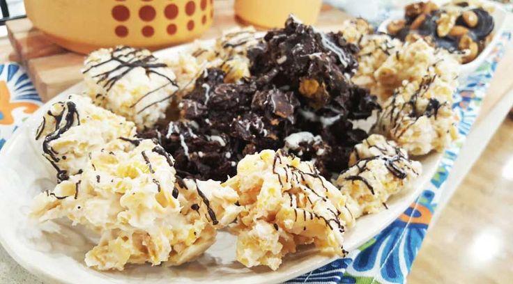 Bombones de chocolate rellenos y chocolate en rama