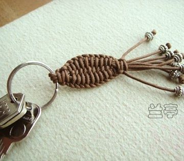 Art: FISH KEYCHAIN FOR MEN...picture tutorial!