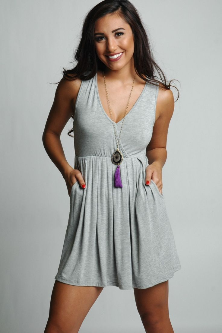 Heather Grey Day Dress