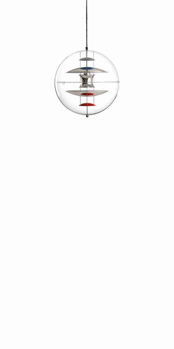 VP GLOBE SMALL - Pendant designed in 1969  by Verner Panton