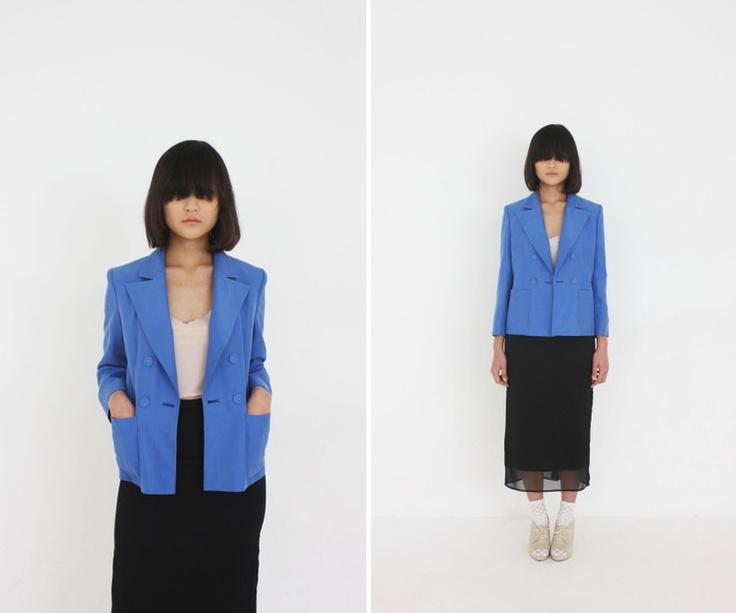 al,thing - Blue silk jacket