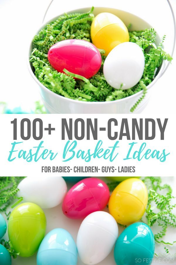 Use some of these non-candy Easter basket ideas for a healthier (and fun) Easter!