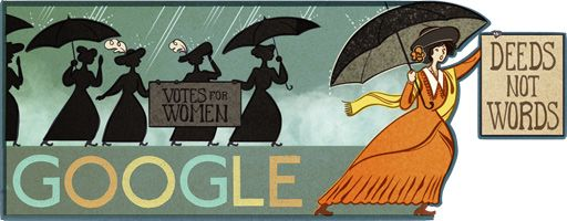 Google Doodle celebrating the birthday of Alice Paul (1885-1977).