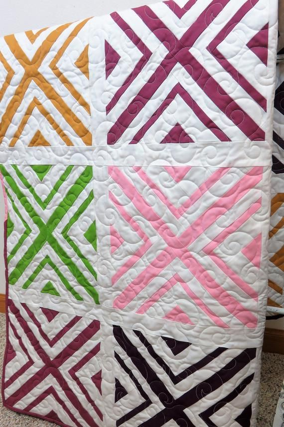 Handmade Quilt For Sale Modern Throw Quilt Floral Lap Quilt Large Blanket Geometric Quilt Floral Quilt Sofa Quilt In 2020 Handmade Quilts For Sale Handmade Quilts Quilts For Sale