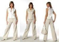 Белые льняные брюки женские