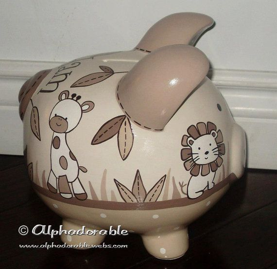 LARGE Snickerdoodle Artisan hand painted ceramic by Alphadorable, $104.00