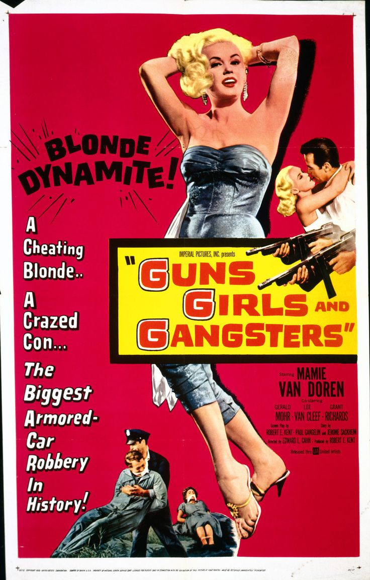Guns Girls and Gangsters Mamie Van Doren 8x10 Photo 1169 | eBay