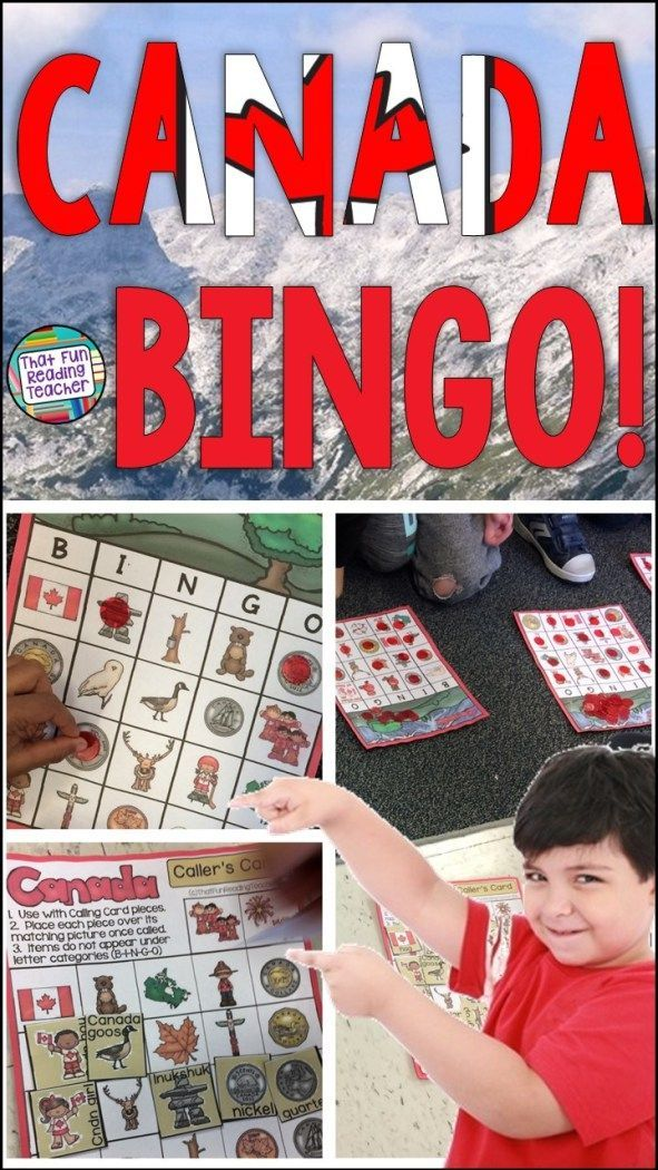 Teaching kids about Canada? BINGO is a fun way for to learn and consolidate vocabulary $