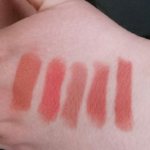 MAC Oxblood lipstick comparison! Left to Right: Enchanted One, Runway Hit, Honeylove