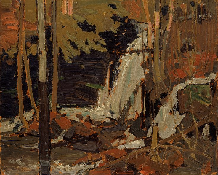 Tom Thomson Catalogue Raisonné | The Waterfall, Spring 1916 (1916.32) | Catalogue entry