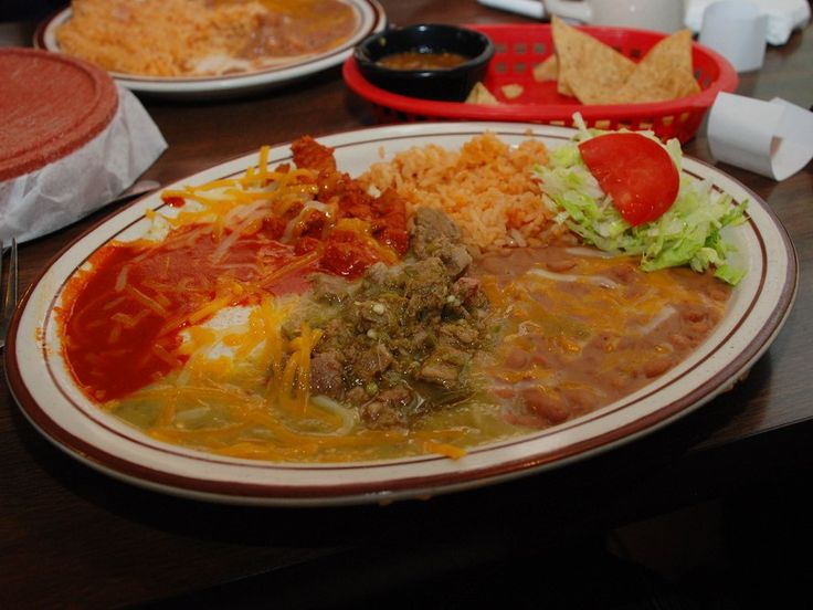 """NEW MEXICO Go """"Christmas style"""" and ladle red and green chile over enchiladas (or anything else)."""