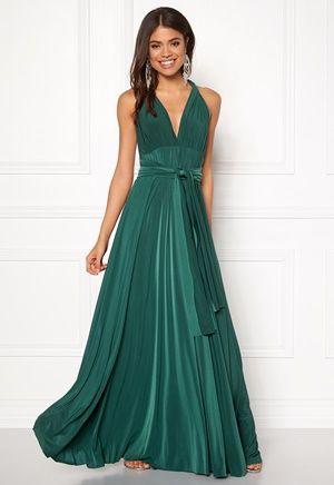 Goddiva Multi Tie Maxi Dress Green - Bubbleroom  e1ffb77b82b1a