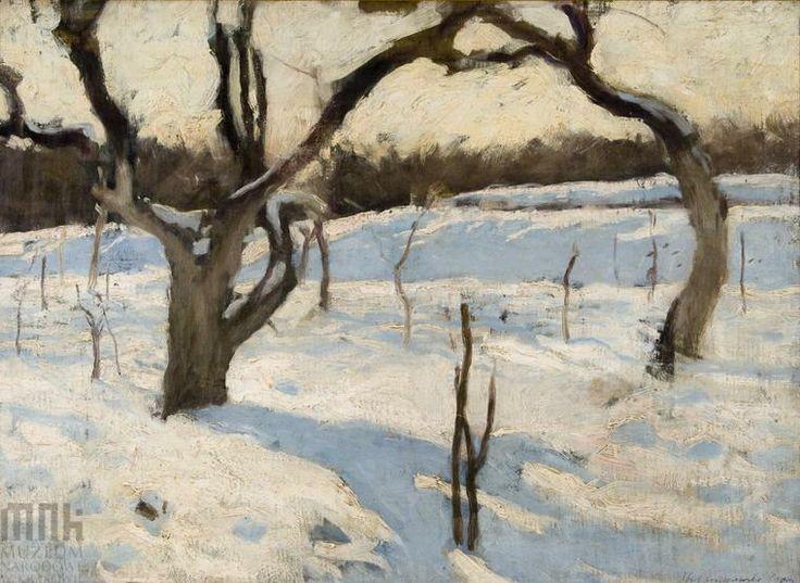 Józef #Czajkowski, Sad w zimie, 1900, wł. Muzeum Narodowe w Krakowi // Orchard in winter, owned by the National Museum in Krakow