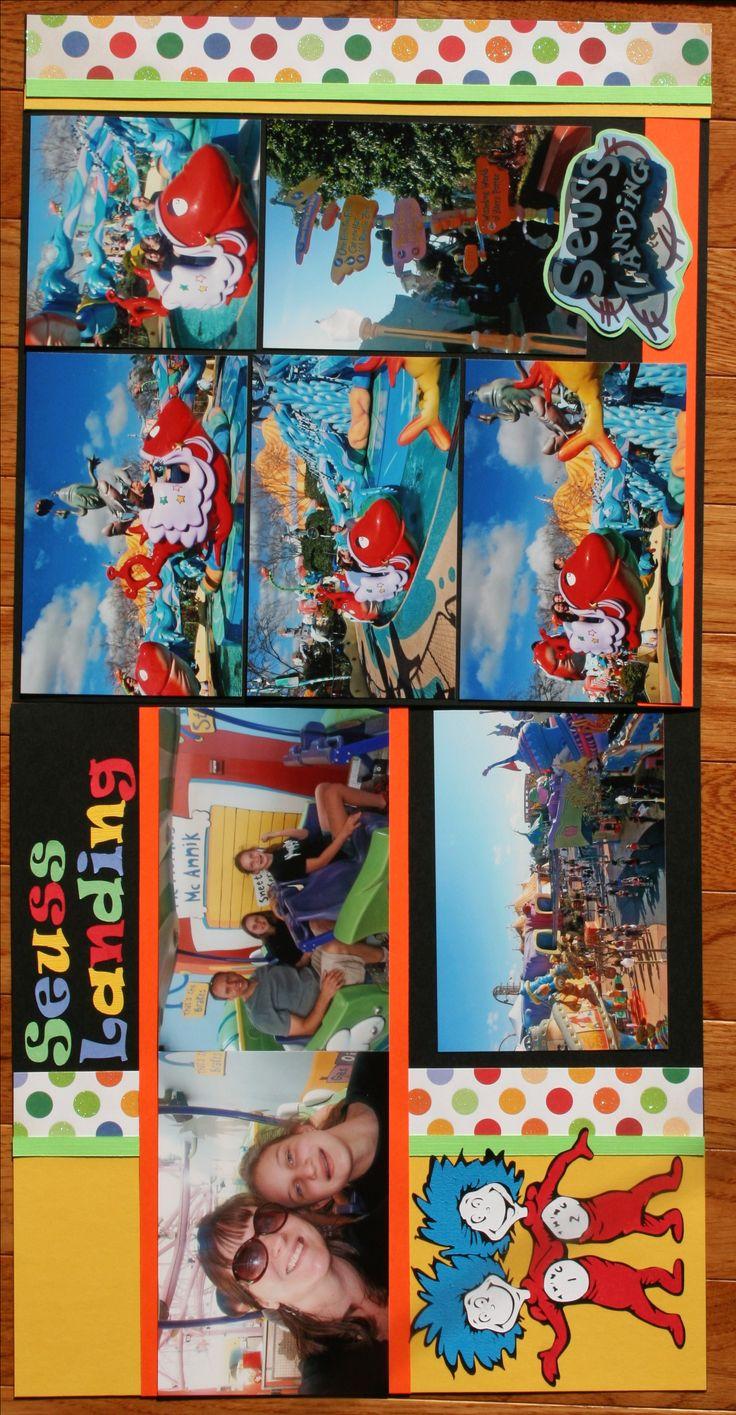 Scrapbook theme ideas - Universal Studios Scrapbooking Layouts Layout Seuss Landing Islands Of Adventures Universal Studios