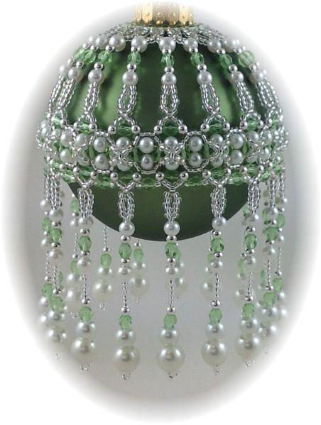 veiled Beauty Ornament Cover Pattern   beaded Christmas tree ornam ...