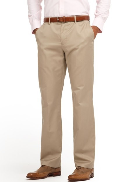 Bonobos tan slacks and oxford shoes (+purple shirt)