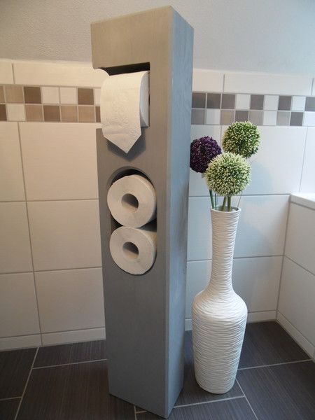 die besten 25 toilettenpapierhalter stehend ideen auf pinterest waschtisch holz stehend. Black Bedroom Furniture Sets. Home Design Ideas