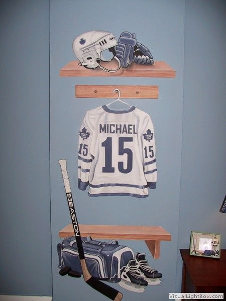 Hockey Theme Mural | Hockey locker room mural was a nice tou… | Flickr