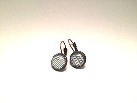 12mm earrings chevron  vemyo