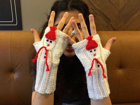 Gloves Snowman Gloves Fingerless Gloves Snowman Arm