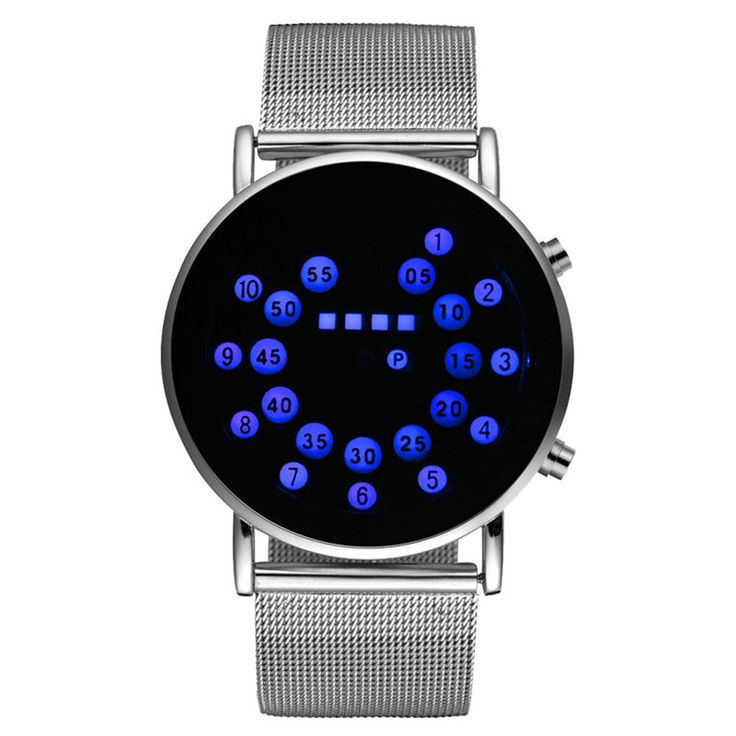 LED Touch Screen Men Digital Watch Luminous Bracelet Number Ball Design Orange Lamp Girl Wristwatch Stainless Steel Strap Gift. Yesterday's price: US $7.90 (6.47 EUR). Today's price: US $7.90 (6.53 EUR). Discount: 56%.