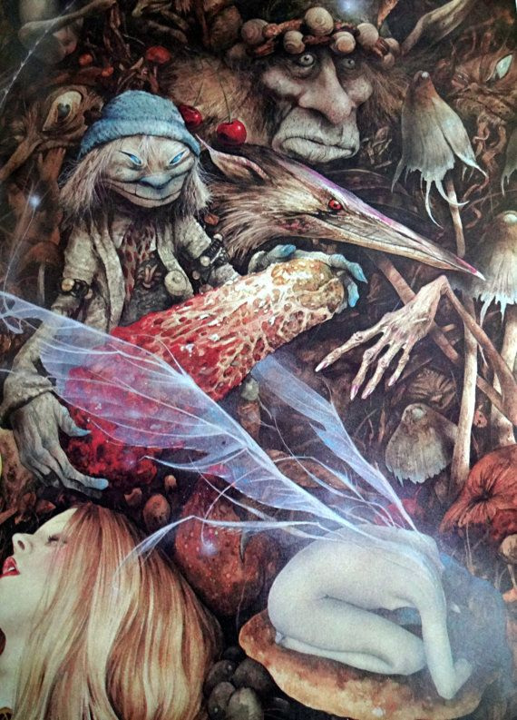 Vintage Book  FAERIES  Brian Froud and Alan Lee  1978  by Besom, $89.95: