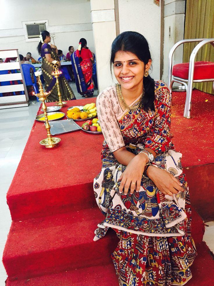 Kalamkari cotton saree ❤️