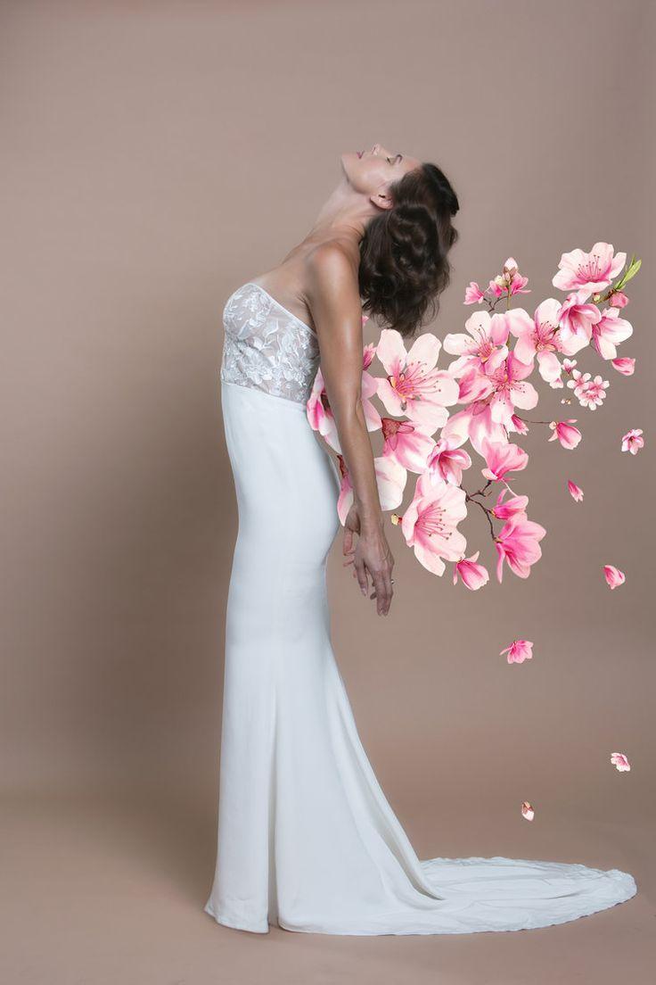 Trish Peng Custom Bridal Blossom Gown www.trishpeng.com