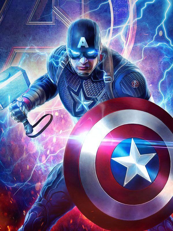 2019 Captain America Mjolnir Avengers Endgame 4k Hd Superheroes Wallpapers Artwork Behance Id 1882 Kapten Marvel Avengers Pahlawan Marvel