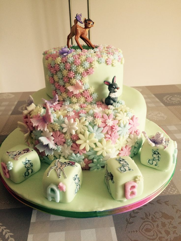Bambi And Thumper Baby Shower Cake By Sweet Treats
