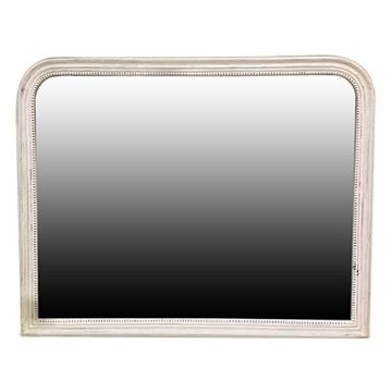 Classic French White Beaded Mirror