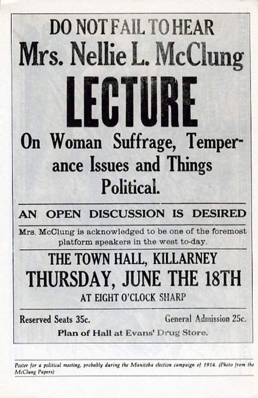 Vintage Nellie McClung Poster